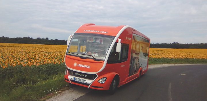 LEDVANCE truck on the road