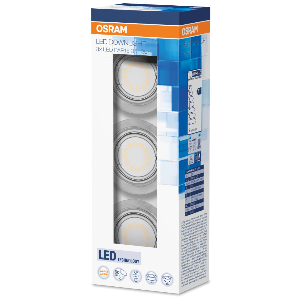LED-downlight 3 x 3 W