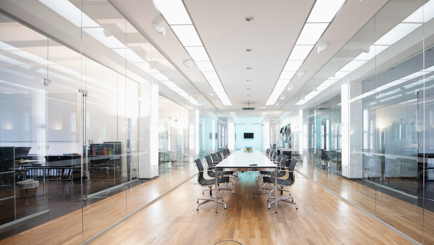 LED luminaires in office