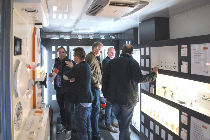 All'interno del truck LEDVANCE