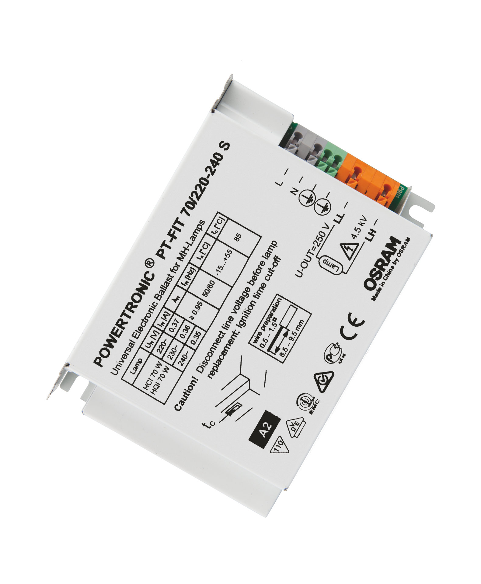 POWERTRONIC PT-FIT S ECG for HID lamps, for installation in luminaires
