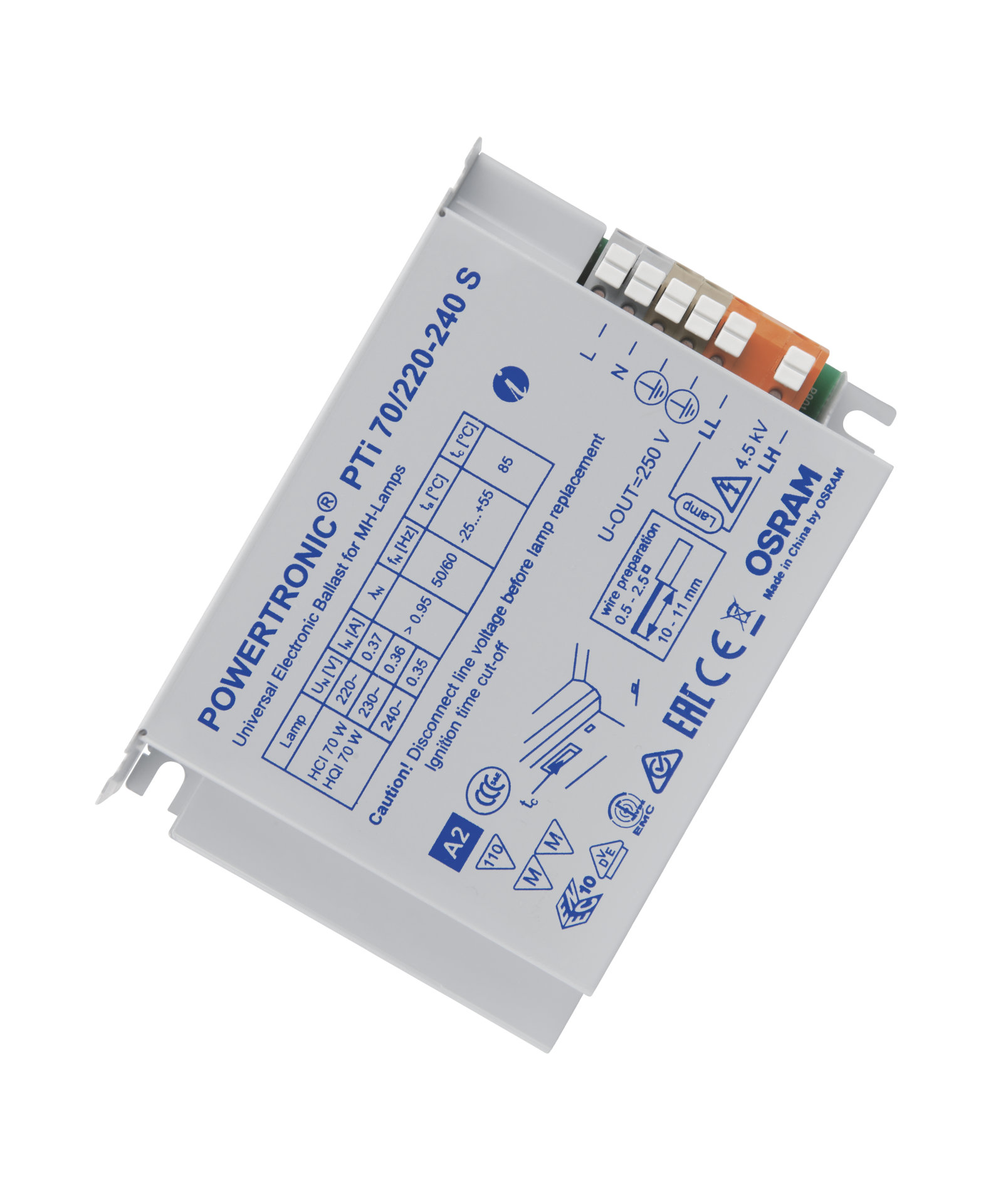 POWERTRONIC INTELLIGENT PTi S ECG for HID lamps, for installation in luminaires