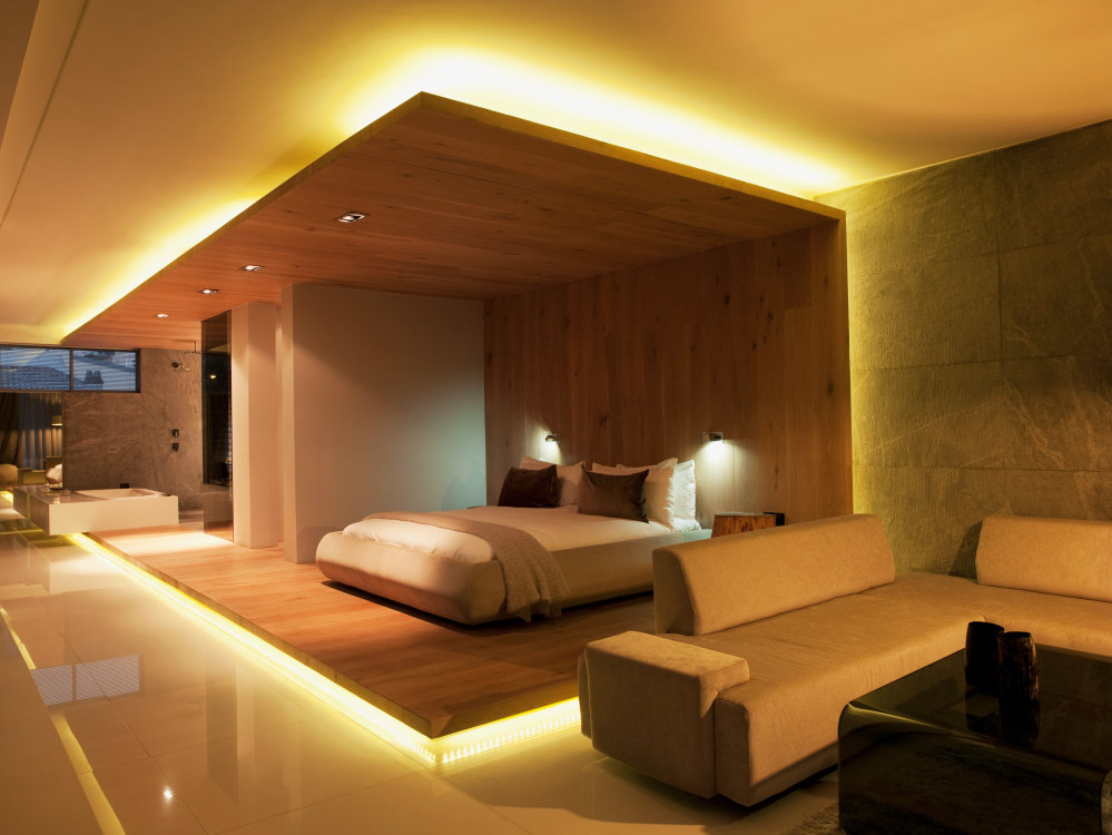 Modern LED bedroom