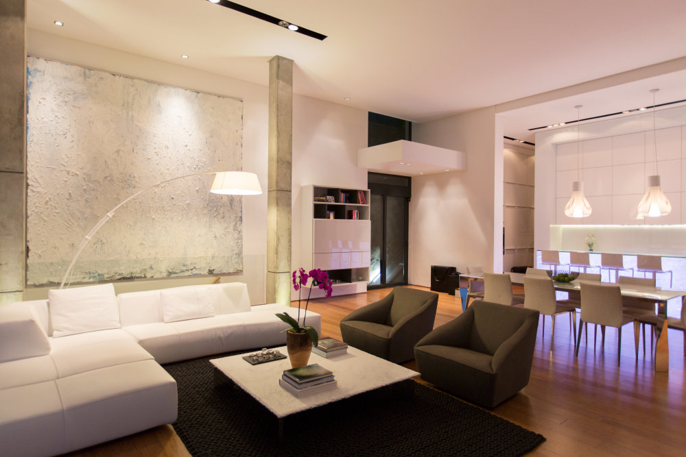 Modern LED technology living room