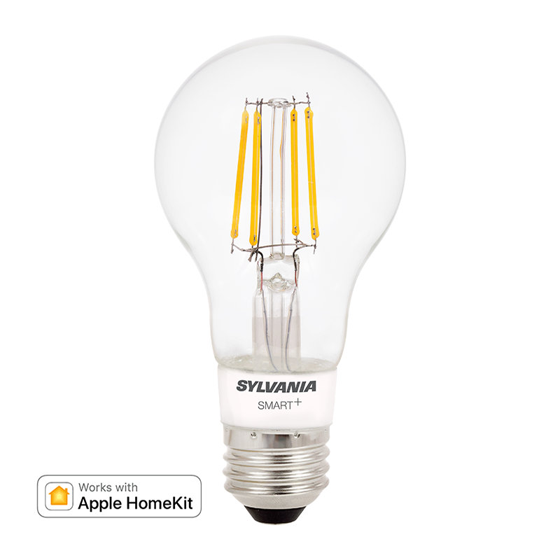 SYLVANIA SMART+ Bluetooth Soft White Filament A19, Apple HomeKit Compatible