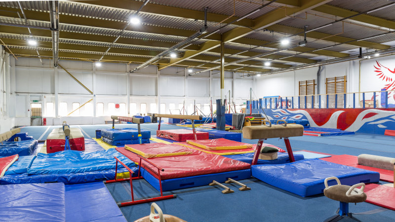 LED hall lighting for the Phoenix Gymnastics Academy
