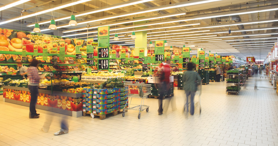Lighting in supermarkets
