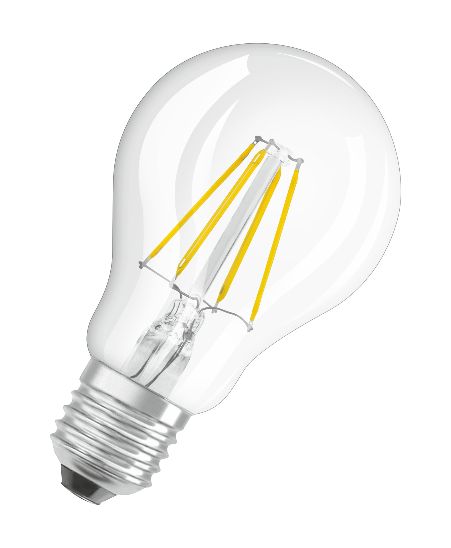 Consumer LED lamps with filament-style LED technology