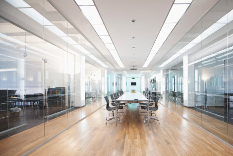 LED luminaires in offices