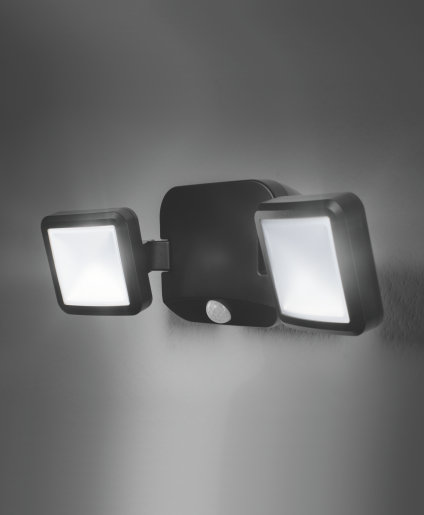 Battery LED Spotlight Double BK