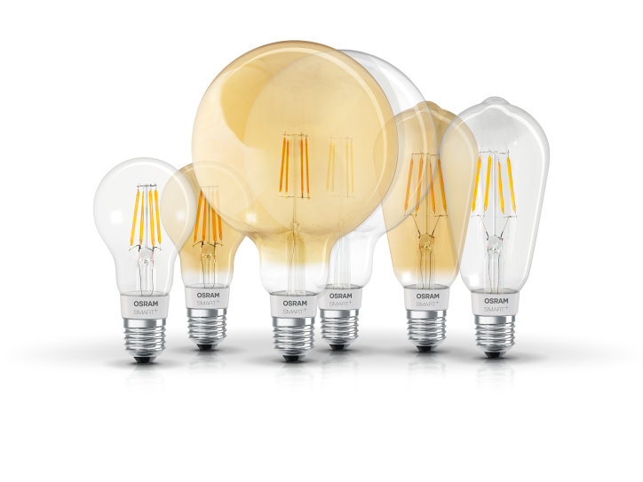 Smart+ HomeKit compatible LED Filament Lamps
