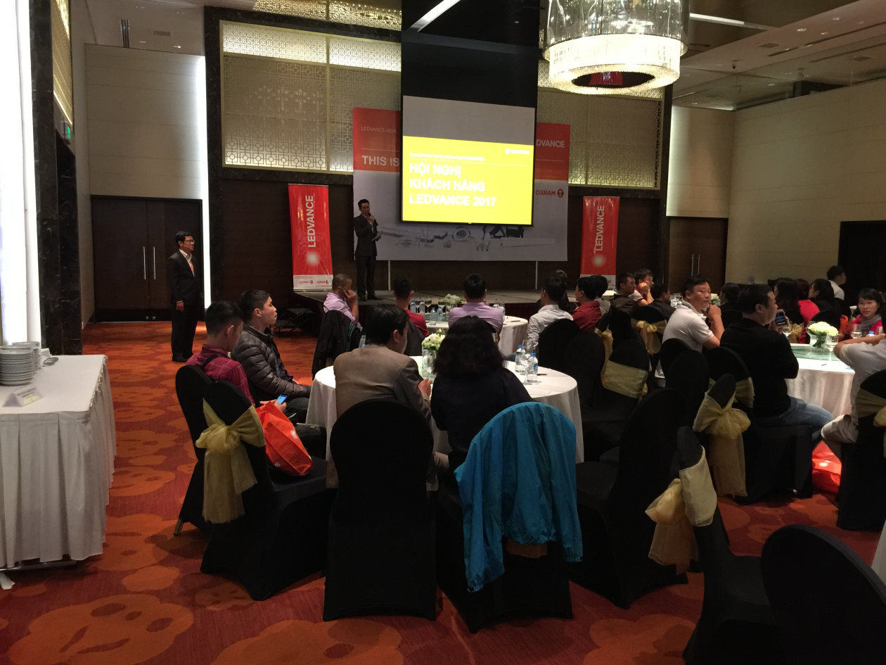 Customer event in Hanoi.