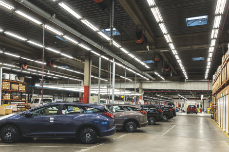 Honda vervangt 8.000 fluorescentielampen door innovatieve SubstiTUBE LED buizen