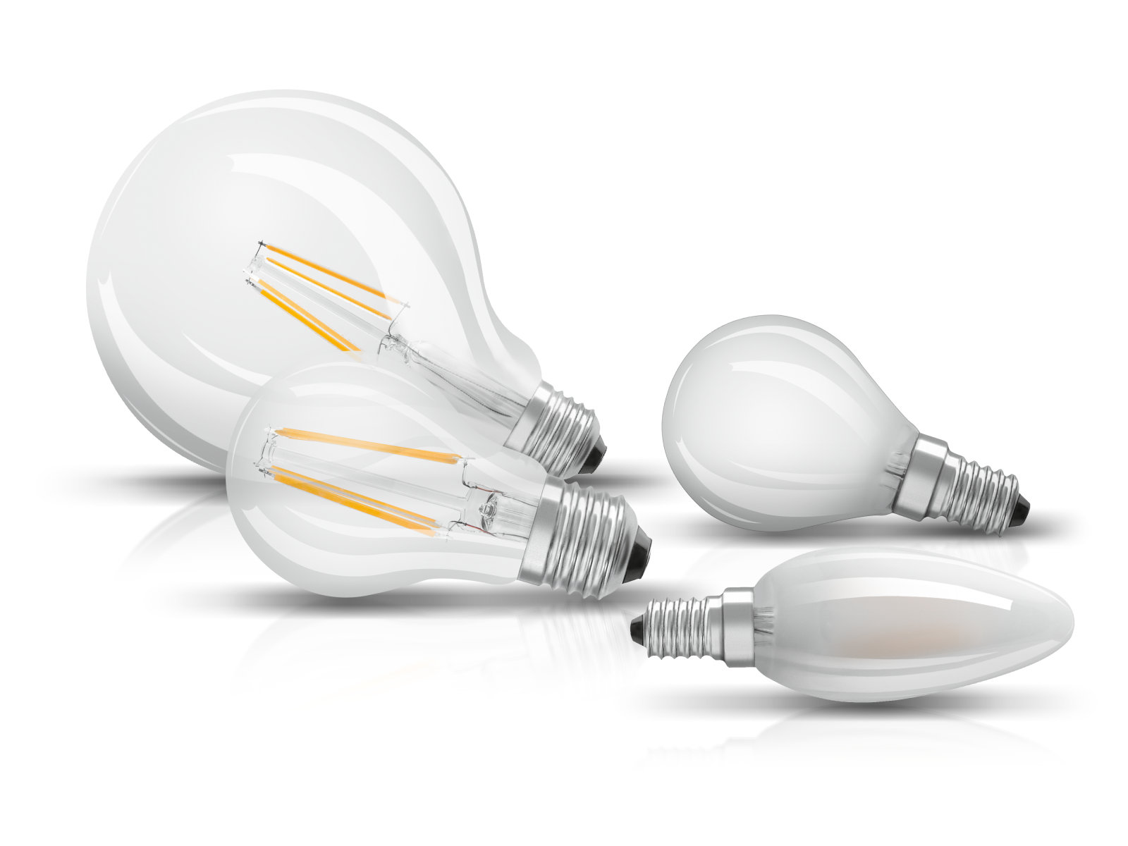 LED Lamps with classic bulb shapes