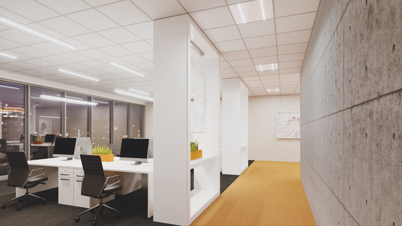 Office Panel Indiviled, Linear Indiviled, Linear Indiviled D/I