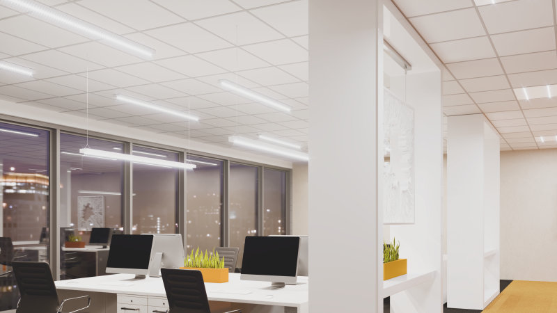 Office lighting with LEDVANCE Linear IndiviLED