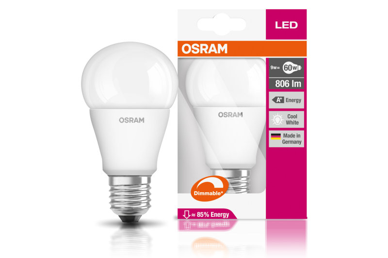 LED SUPERSTAR Classic A60 9W Cool White E27 Frosted