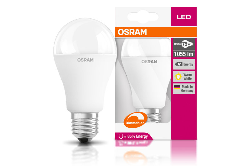 LED Superstar Classic A75 9W Warm White E27 Frosted