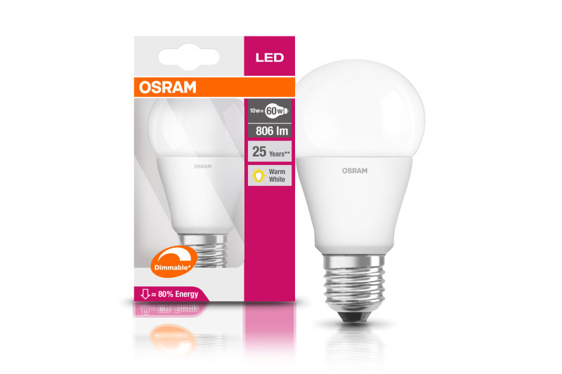 LED Superstar Classic A60 9W Warm White E27 Frosted