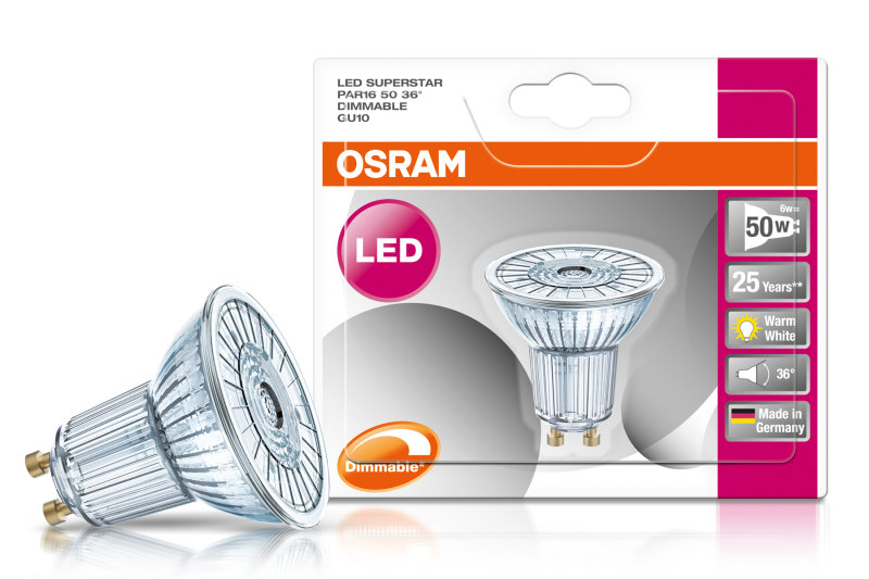 LED Superstar PAR16 50 4,6W Warm White GU10