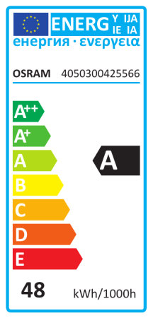 Energy label, vertical