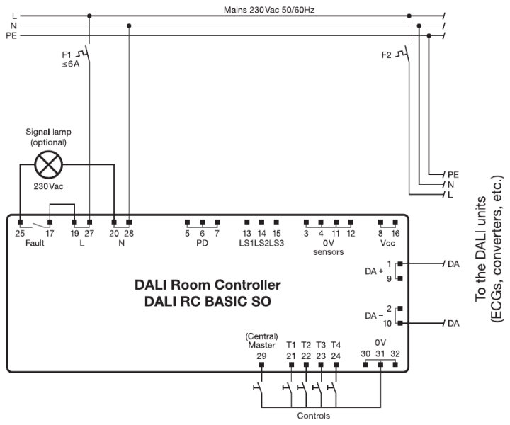 DALI RC BASIC SO | Products Og Output Wiring Diagram on