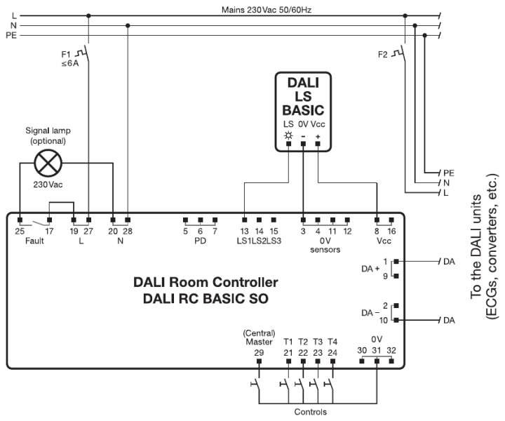 dali rc basic so products rh ledvance com Wiring Diagram for 277V Lighting osram dali mcu wiring diagram